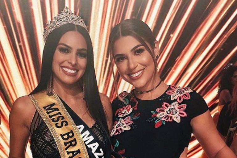 A Miss Brasil 2018, Mayra Dias, ao lado da ex-BBB Vivian Amorim