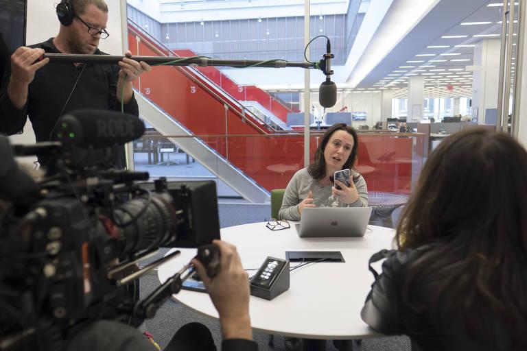 Maggie Haberman dá entrevista a diretora do filme