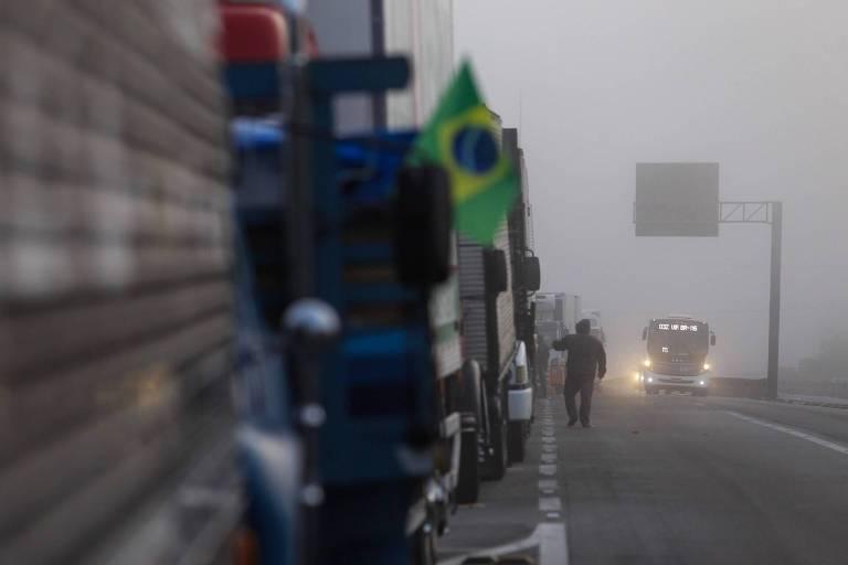 Manifestações de caminhoneiros em São Paulo