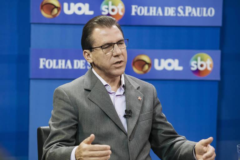 Luiz Marinho durante sabatina