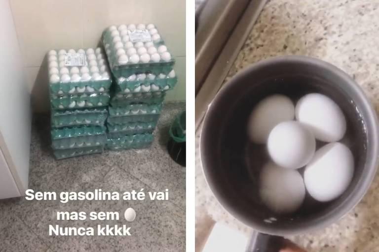 Gracyanne Barbosa faz estoque de ovos com medo de ser afetada pela paralisação dos caminhoneiros