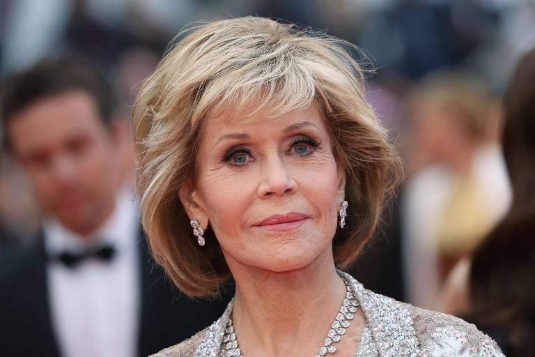 A atriz Jane Fonda no Festival de Cannes