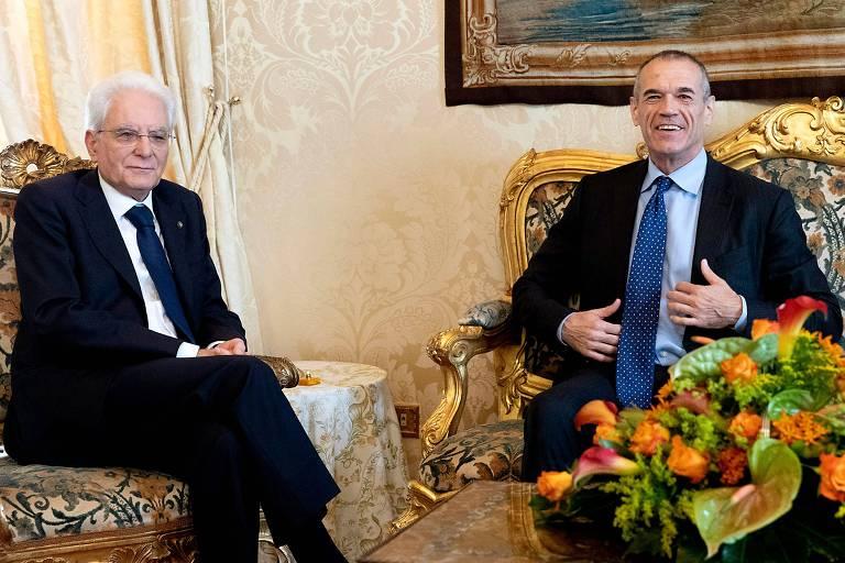 Sergio Mattarella se reúne com Carlo Cottarelli em Roma