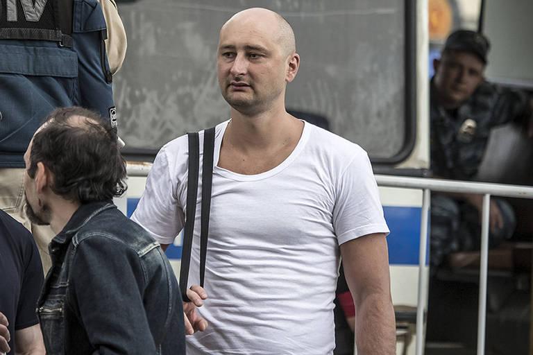 O jornalista russo Arkady Babchenko em foto de 2013