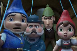 Sherlock Holmes vira gnomo em sequência da animação 'Gnomeu e Julieta'