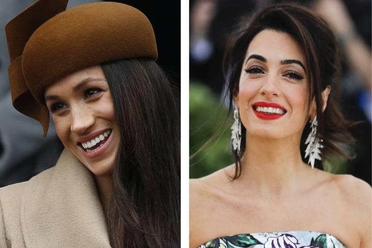 Meghan e Amal Clooney se conheceram nos EUA e se aproximaram quando a atriz se mudou para Londres