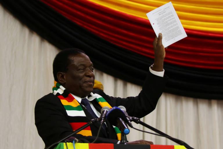 Emmerson Mnangagwa anuncia a data das eleições em Harare, no Zimbábue
