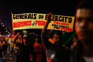 PROTESTO / FORA TEMER / CRISE / GREVE CAMINHONEIROS