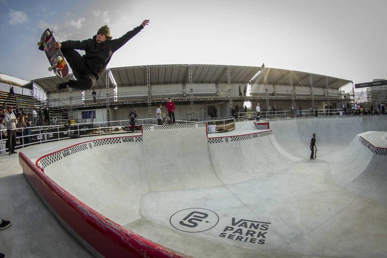 Pista de skate aberta ao público Vans Skatepark, no parque Cândido Portinari