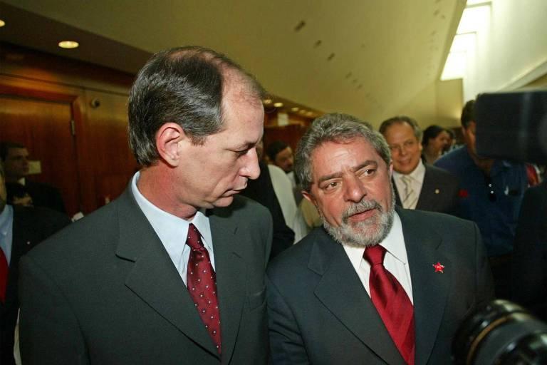 Ciro Gomes e Lula, em 2002