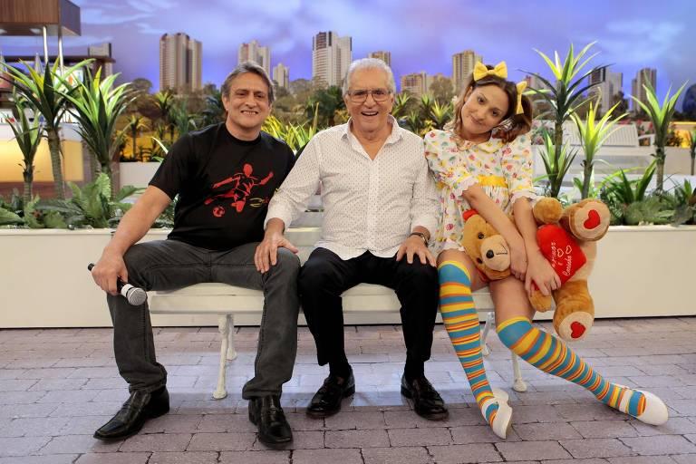 Marcelo, Carlos Alberto e Dalila Nóbrega