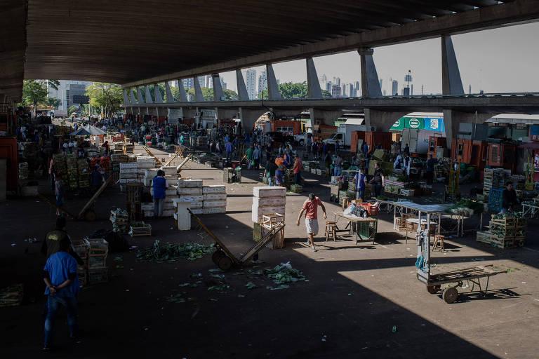 Abastecimento da Ceagesp é prejudicado pela paralisação dos caminhoneiros
