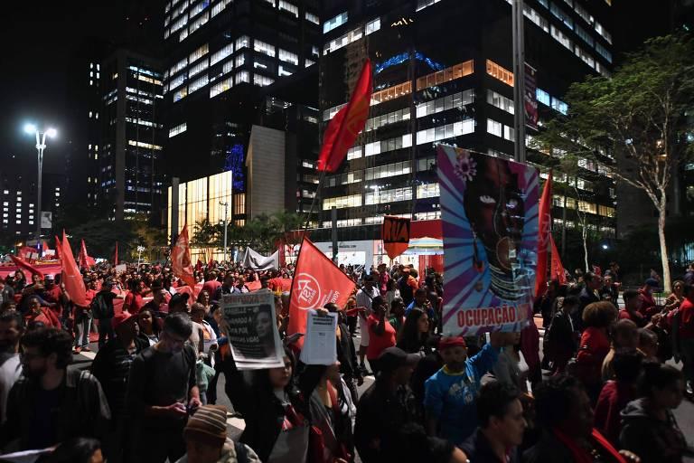 Protesto contra o preço dos combustíveis na avenida Paulista