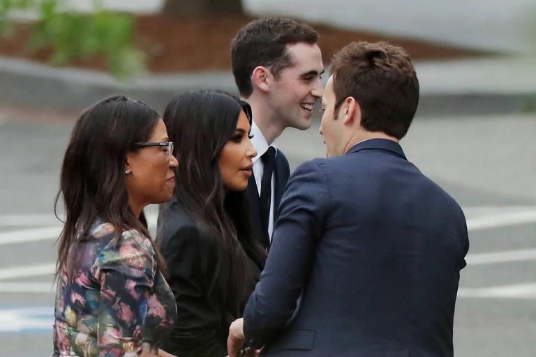 Kim Kardashian visita Donald Trump