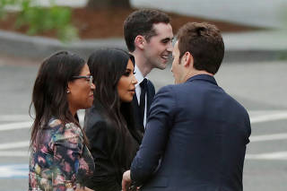 Reality TV star Kim Kardashian departs West Wing after meetings at the White House in Washington