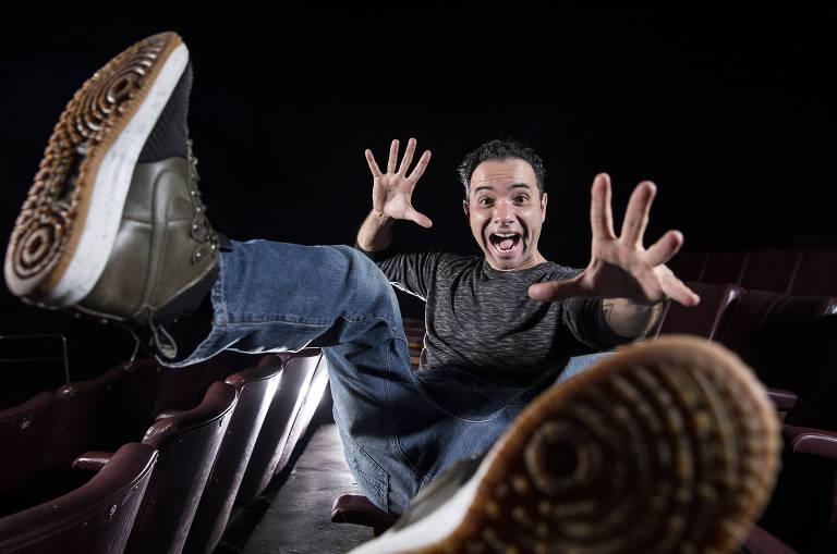 Sessão de fotos com o ator Marco Luque