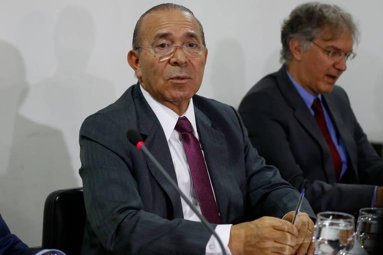 O ministro-chefe da Casa Civil, Eliseu Padilha, durante reunião no Palácio do Planalto