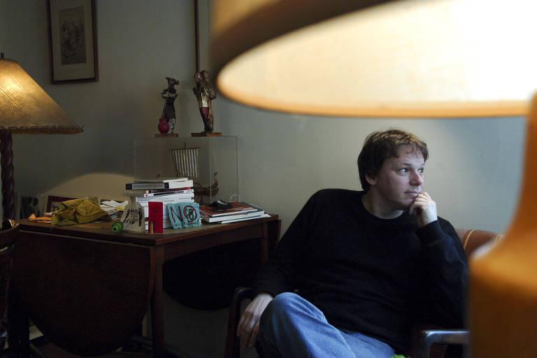 O antropólogo e ativista antiglobalização David Graeber, em Nova York