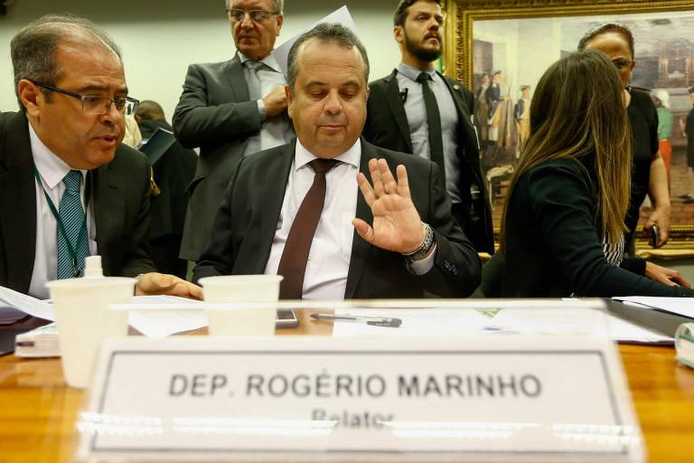 O deputado federal Rogério Marinho (PSDB-RN) durante reunião da Comissão Especial da Reforma Trabalhista da Câmara, em abril de 2017