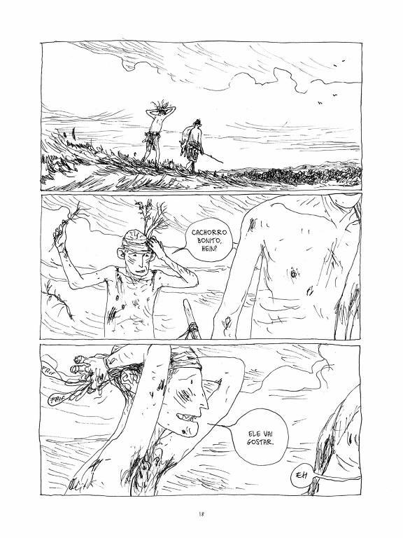 Página de A Terra dos Filhos, de Gipi, que chega às livrarias pela Veneta