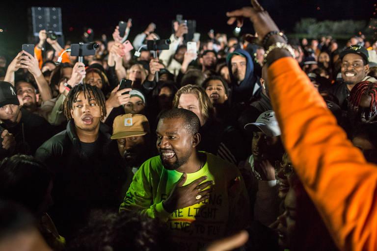 Kanye West na festa de lançamento do disco 'Ye'