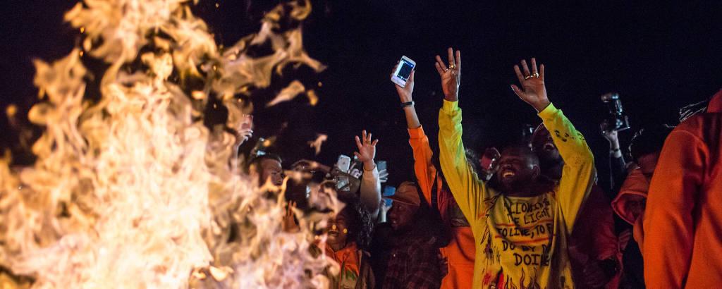Show de lançamento do novo disco de Kanye West