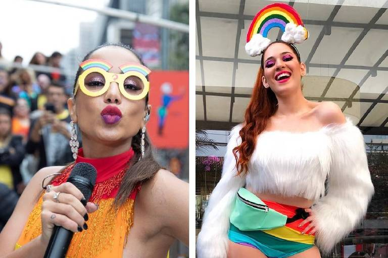 Anitta e Ana Clara, do BBB 18, se encontraram na Parada Gay em São Paulo