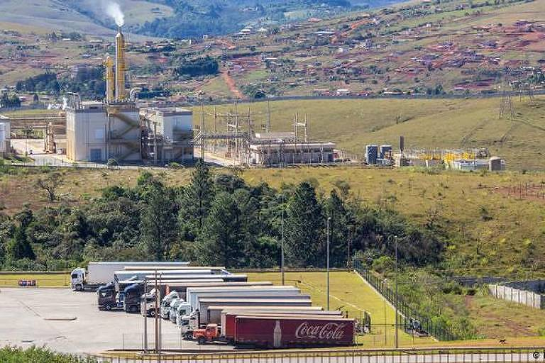Fábrica da Coca-Cola em Itabirito, na região metropolitana de Belo Horizonte