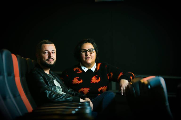 Os diretores paulistas Marco Dutra e Juliana Rojas e Marco Dutra, de 'As Boas Maneiras', em São Paulo