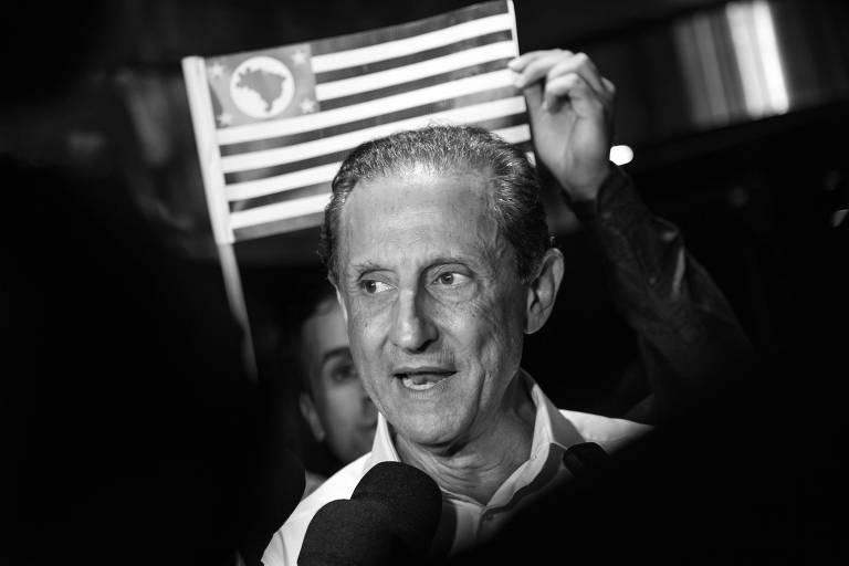 Paulo Skaf durante evento em que foi lançada a sua pré-candidatura ao governo de São Paulo, em Jaguariúna, em maio deste ano