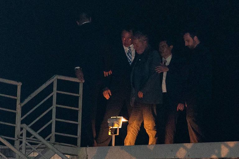 O ex-presidente Luiz Inácio Lula da Silva (PT) na chegada à Superintendência da Policia Federal de Curitiba (PR), onde está preso há dois meses