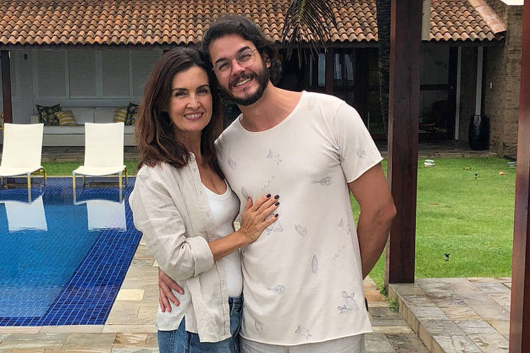Fátima Bernardes e Túlio Gadêlha em Porto de Galinhas