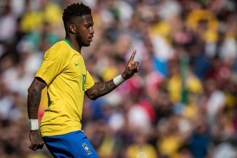 Volante Fred, da seleção brasileira