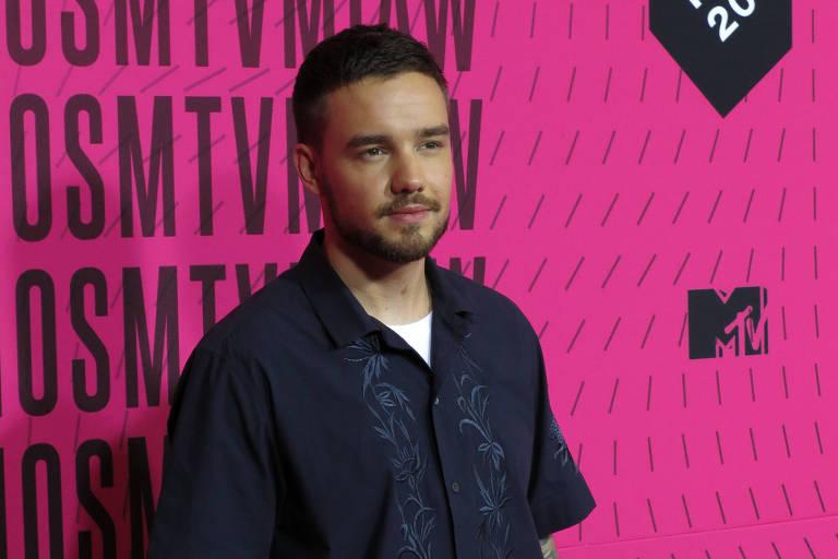 O cantor Liam Payne no tapete do MTV Miaw, no México, em 2018