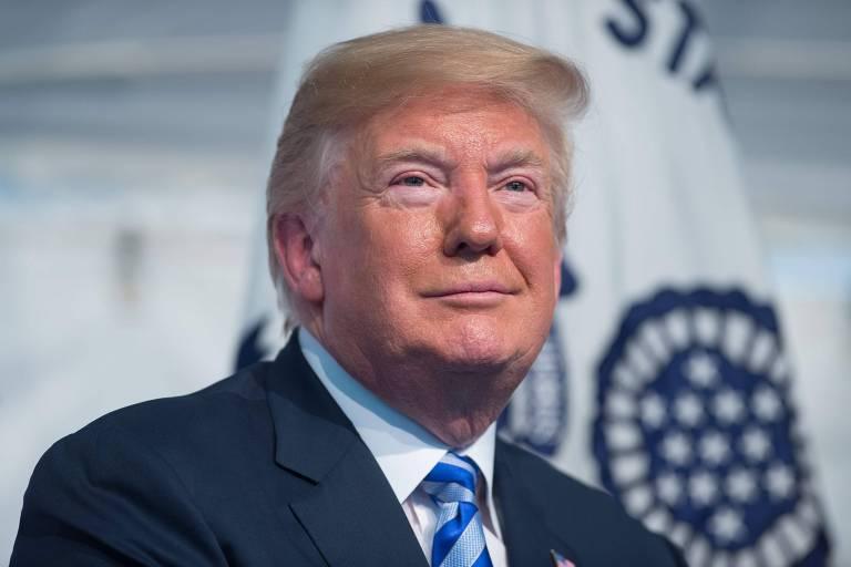 Trump durante cerimônia militar em Washington na última sexta-feira (1º)