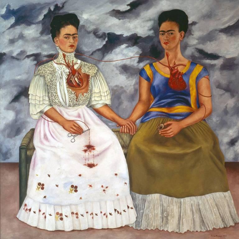 A obra de Frida Kahlo 'As Duas Fridas'