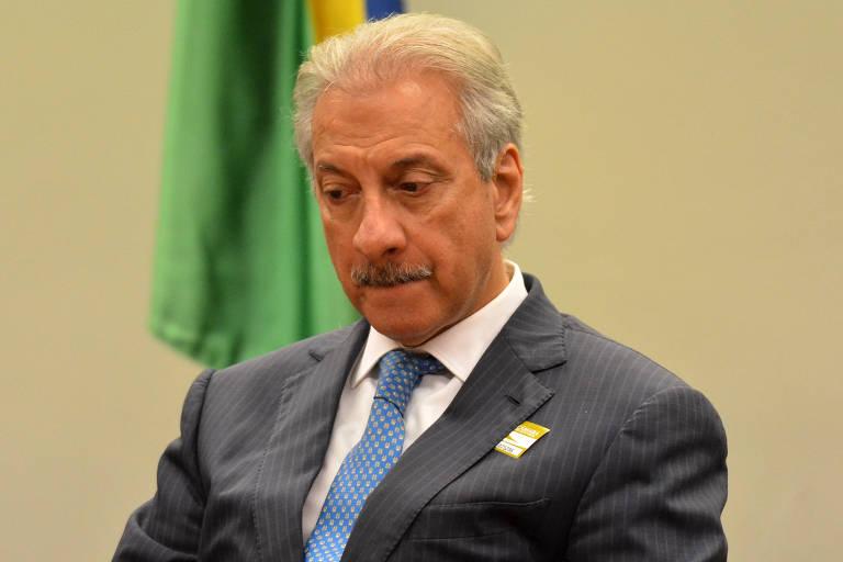 O presidente da Engevix, José Antunes Sobrinho, durante reunião da CPI dos Fundos de Pensão, em fevereiro de 2016