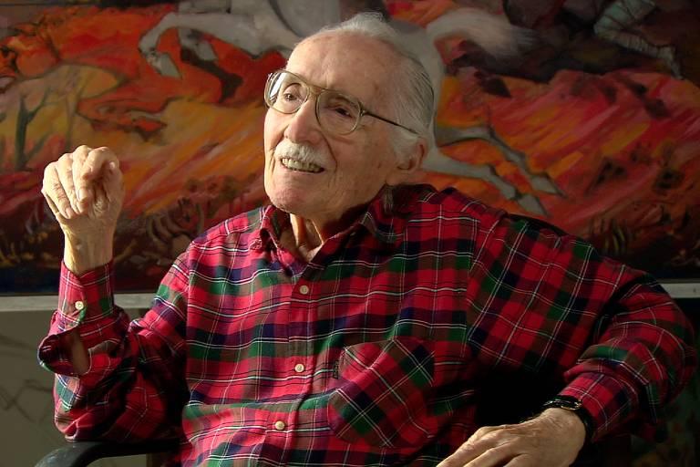 O pintor ítalo-brasileiro Enrico Bianco (1918-2013)