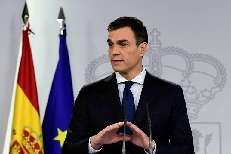 O novo premiê espanhol, Pedro Sanchez, anuncia em Madri seu novo gabinete