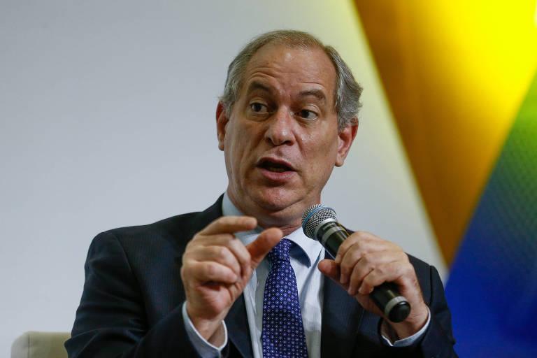 O pré-candidato à Presidência e ex-ministro Ciro Gomes (PDT) durante sabatina promovida pelo jornal Correio Braziliense, em Brasília