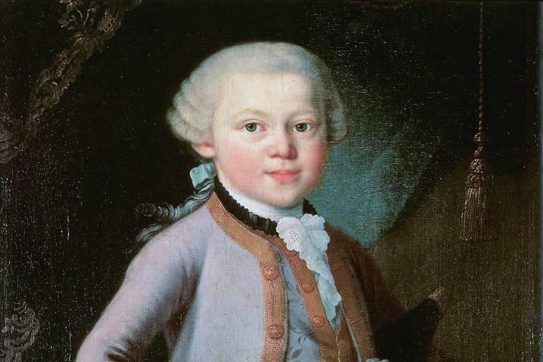 quadro do compositor mozart quando criança