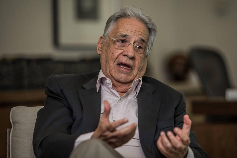 O ex-presidente Fernando Henrique Cardoso (PSDB), durante entrevista à Folha em seu escritório na sede do iFHC (Instituto Fernando Henrique Cardoso), em São Paulo (SP)