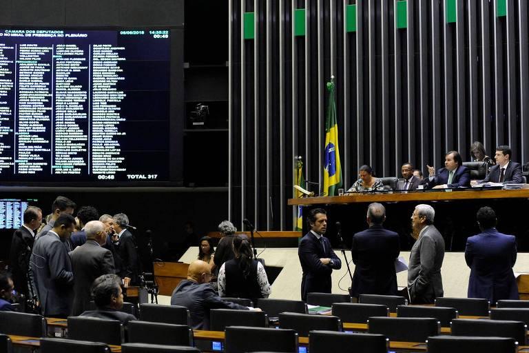 Sessão Extraordinária na Câmara dos Deputados, em Brasília