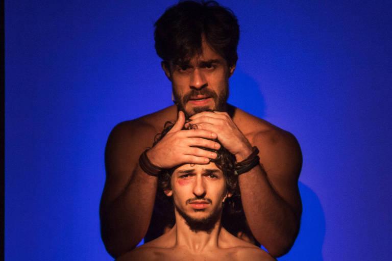 Cena do espetáculo 'Laio e Crísipo', que abre a programação de 'Dramaturgias'