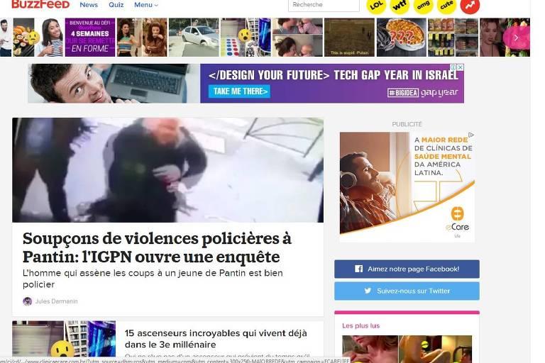 reprodução da página do buzzfeed francês