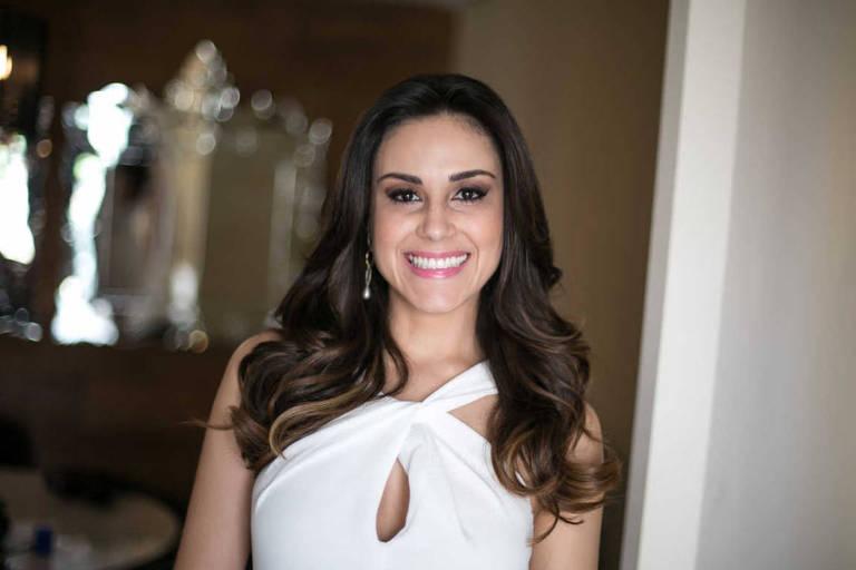 A apresentadora Nadja Haddad