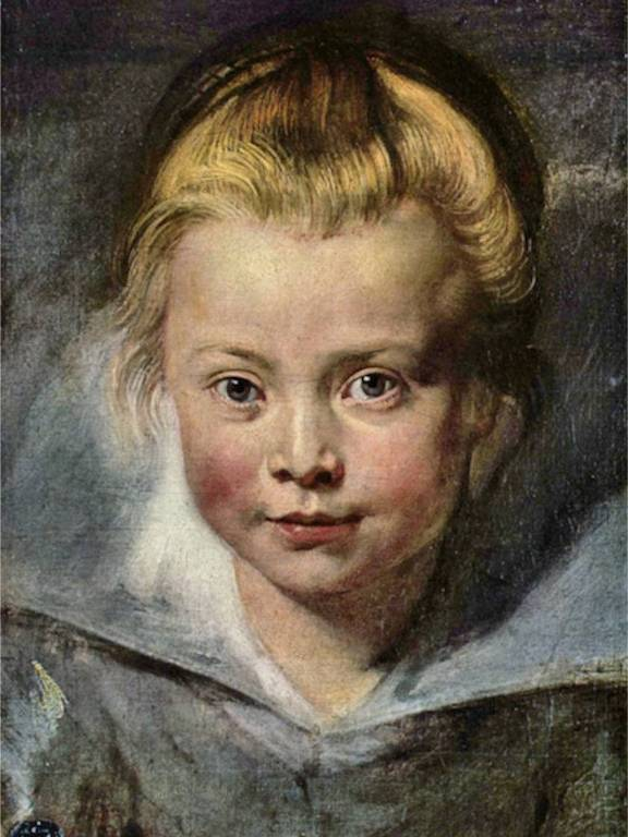 pintura de menina