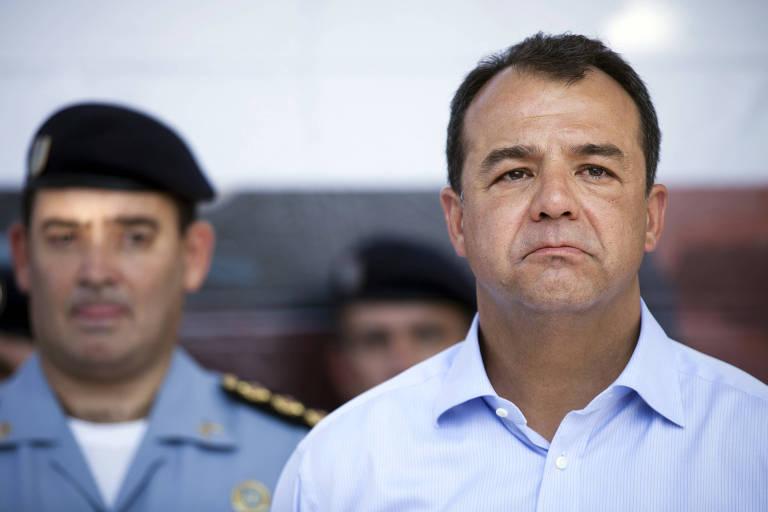 O ex-governador do Rio de Janeiro Sérgio Cabral (MDB), durante inauguração de UPP (Unidade de Polícia Pacificadora) no complexo do Alemão, no Rio