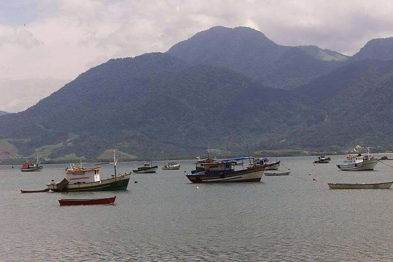 Barcos na Baía de Sepetiba