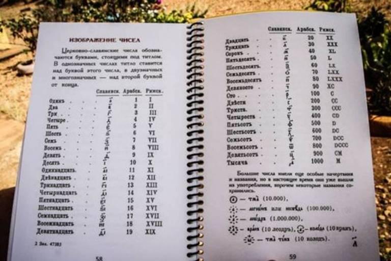 Cartilha usada por descendentes de russos para alfabetizar os filhos na colônia
